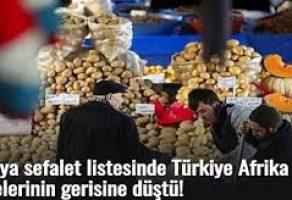 Türkiye Afrikanın Gerisine Düştü